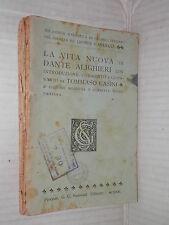 LA VITA NUOVA DI DANTE ALIGHIERI Sansoni Biblioteca scolastica classici italiani