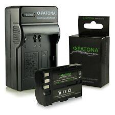 Batteria + carica per nikon d80 nikon d90 d100 2000 mah premium enel3e en-el3e