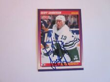 GEOFF SANDERSON SIGNED AUTOGRAPHED 1991 SCORE ROOKIE RC CARD WHALERS