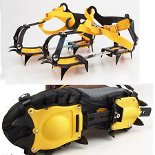 Universal Ice Snow Anti Slip Shoes Spikes Grips Grippers Crampon Cleats 10 Teeth