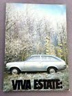 1972 Vauxhall Viva Estate 14-page Original Car Brochure Catalog - UK GM