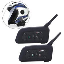 New 2Pcs/Set Helmet Intercom Interphone Wireless Multi Headsets 1200M CA