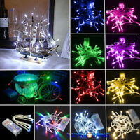 Operated LED Fairy String Lights Battery Wedding Party Outdoor Garden Home Decor