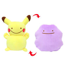 Pokemon Go Ditto Pikachu Transformation DoubleSoft Plush Pillow Cushion Toy Gift