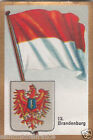 Deutschland Germany BRANDENBURG DRAPEAU FLAG IMAGE CARD 30s