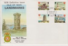 Unaddressed Isle of Man First Day Cover FDC 1978 Definitive Issue 13p-16p