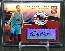 Frank Kaminsky 2017-18 Totally Certified Signed Sealed Delivered Auto /75 Hornet