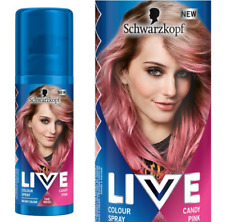 Schwarzkopf LIVE Hair Colour Spray CANDY PINK 120ml One Wash