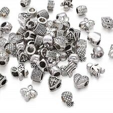 20 Mixed Big Hole Spacer Beads Charm, Large Hole Fit Leather / European bracelet