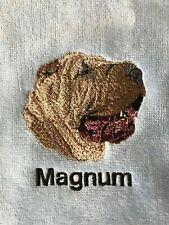 Shar Pei Hand Towel, Embroidered, Custom, Personalized, Dog, Shar Pei