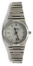 Bulova 96R009 Diamond Bezel Woman's Wrist Watch