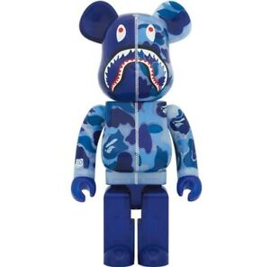 Medicom Be@rbrick BAPE CLEAR CAMO SHARK Blue 1000% WGM ape 2020