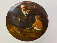 "8.5"" Norman Rockwell ""The Tycoon"" Craftsman Collector Plate Knowles"