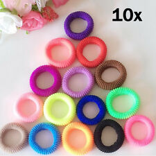 10Pcs Colors WomenElastic Hair Ties Band Ropes Ring Ponytail Holder Accessory