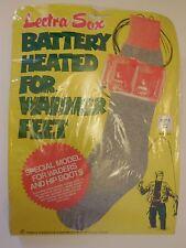 Vintage Lectra-Sox LS-6 Men Battery Heated Socks Sz S 8  -9.5