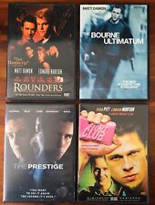 Drama Action Dvd Lot Matt Damon Ed Norton Brad Pitt Fight Club Bourne Ultimatum