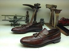 ALLEN EDMONDS CLASSIC BISCAYNE BROWN LEATHER SLIP ON TASSLE LOAFERS SHOES 14 AA
