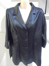 KATIES SIZE 14 BLACK SATINY EVENING BLOUSE 'PERFECT'