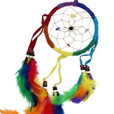 Handmade Medium Single Suede 9cm Dreamcatcher Rainbow Bdc09 UK SELLER