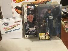 ACTION MCFARLANE NASCAR HOBBY SERIES 1 DRIVER RUSTY WALLACE CHASE FIGURE SUN GLA