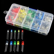 200Pcs 3V 20mA 5 Colors 3mm 5mm Round Bright Light LED Diode Lamp Assortment Kit