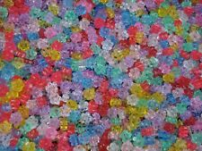 Beads Flowers Plastic Transparent Mix 25g Spacer DIY Jewellery POSTAGE