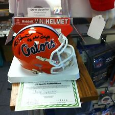 Steve Spurrier~Autographed Florida Gators Riddell mini Helmet ~COA Authentic