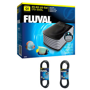 Fluval Q1 Air Pump Twin Outlets - Quiet, Powerful Aquarium Pump