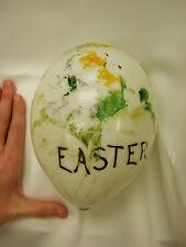 Rare Huge Antique Hand Blown Milk Glass Easter Egg (ostrich egg size)