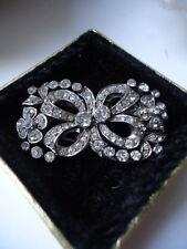 Spectacular CIRO Vintage Deco 1940s Silver & Zircon Duette Brooch Dress Clips