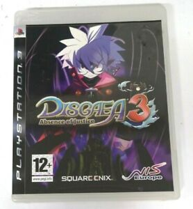 Disgaea 3 Absence of Justice Sony Playstation 3 PS3 Game FREE P&P