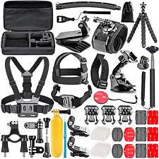 Go Pro HERO 5 4 3 2 1 Attachments 50 Piece Kit Mounting Hardware Bundle Sport