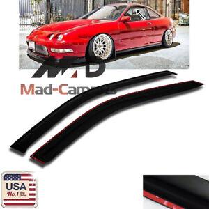 MAD Window Deflector Visor Shade Rain Guard For 1994-2001 Acura Integra 2 Door