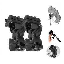 2 × Adapter Hot Shoe Swivel Light Stand Mount Umbrella Holder Bracket B