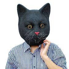 Black jack cat Full Head Latex  Mask Halloween Deluxe adult size Fancy Dress