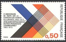 France 1973 Franco-German Co-operation Treaty/Trade/Commerce/Flag 1v (n40717)