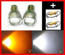 4 Watt Dual Color Switchback 1157 2357 LED Turn Signal Lights & Resistors #F5