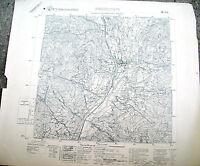 1938 I.G.M. CARTA GEOGRAFICA DELLA ZONA DI BRESSANONE TRENTINO