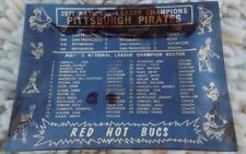 1971 NL Champs Ashtray Pittsburgh Pirates SF Giants