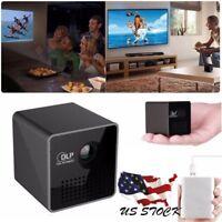 1080P Mini WiFi Projector Portable Projector Video Multimedia Home Business USA