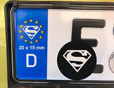 4x Superman Man of Steel Tuning Nummernschild Aufkleber Kennzeichen EU Plakette