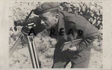 WW2 Soldier Sapper ? Royal Engineers looking through a range finder ??