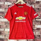 Manchester United Shirt Mens Small Red Home Premier League Adidas Sports Jersey