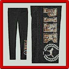VICTORIA'S SECRET PINK Yoga Pants Legging Full Length Sequins Bling Logo - M