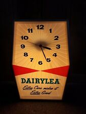 Vintage Dairylea Dairy Milk Cow Farm Advertising Wall Table Top Shelf Clock