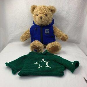 "Gund Millenium Peace Bear 200-01 W/Jacket & Hope Sweater Plush Stuffed Toy 26"""