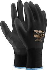 Protective GLOVES made of polyester and coated with POLYURETHANE, SAFETY GARDEN