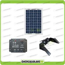 Kit Pannello Solare 10W 12V regolatore di carica 5A Supporto di fissaggio testap