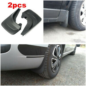 2pcs Black Mud Splash Guards Flaps Body Protector Universal For Car Truck SUV