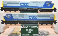 CSX 801 SD80MAC YN2  Bright Future Kato 37-6344 HO Scale. F26.2